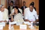 Chief Minister of Rajasthan, Odisha and Tamil Nadu Vasundhara Raje, Naveen Patnaik and O Panneerselvam