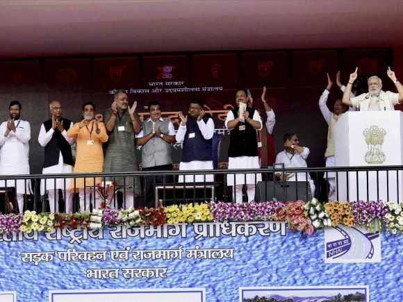 Narendra Modi, Nitin Gadkari, Radha Mohan Singh, Ravishankar Prasad, Rajiv Pratap Rudy, Four-lane road, Four-lane Patna-Buxar road, Patna-Buxar road, Narendra Modi, Four Lane news in India, Buxar-Patna four-lane