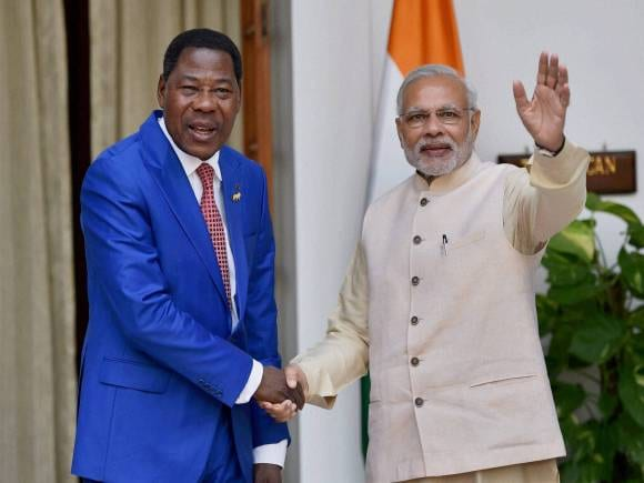 Prime Minister of India, Narendra Modi, Benin President, Thomas Boni Yayi, Hyderabad House