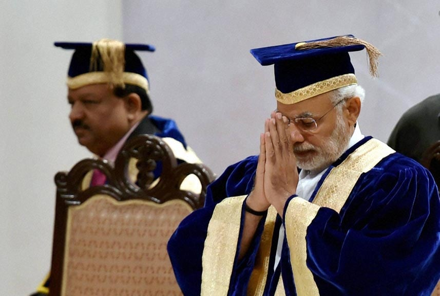 Prime Minister, Narendra Modi, arrives, 42nd Convocation, All India Institute of Medical Sciences