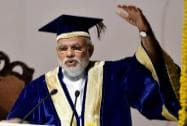 Prime Minister Narendra Modi addresses during the 42nd Convocation of the All India Institute of Medical Sciences