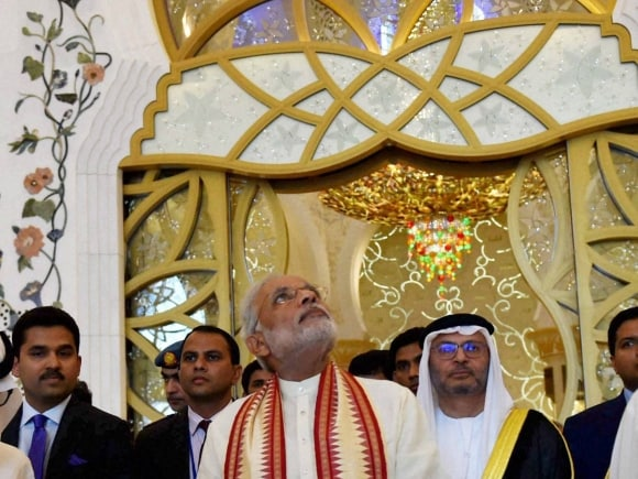 Prime Minister of India, Narendra Modi, Sheikh Zayed Grand Mosque, UAE, PM Modi, Modi's UAE trip, Modi in UAE