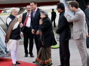 PM Narendra Modi arrives in Ireland for a historic visit