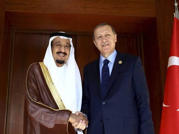Turkish President, Tayyip Erdogan, Saudi King Salman bin Abdul Aziz Al Saud