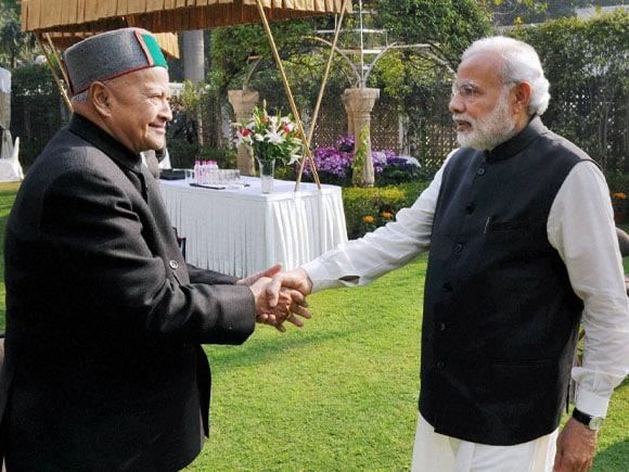 Prime Minister of india, Narendra Modi, NITI Aayog,  Himachal Pradesh CM, Virbhadra Singh