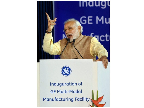 Prime Minister of india,  Narendra Modi, Vice Chairman of GE, John Rice, Manufacturing Facility, General Electric, Multi-Modal Manufacturing Facility, GE, Facility, Chakan, Pune