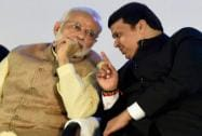 Prime Minister Narendra Modi and Maharashtra Chief Minister, Devendra Fadnavis at the inauguration of General Electric's
