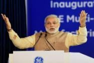Prime Minister Narendra Modi speaks at the inauguration of General Electric's