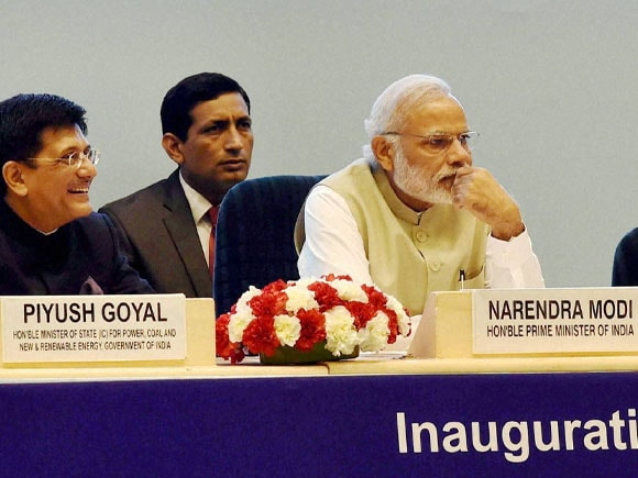Prime Minister of India, Narendra Modi, Piyush Goyal, Re-Invest 2015,  Renewable Energy, Energy Global, Nirmala Sitharaman