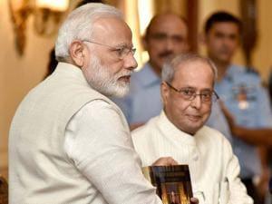 Prime Minister,Narendra Modi releasing the photo book