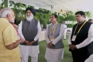 Narendra Modi, Prakash Singh Badal, Shivraj Singh Chouhan and Devendre Fadnavis