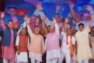 BJP President Amit Shah, Haryana Chief Minister Manohar Lal Khattar