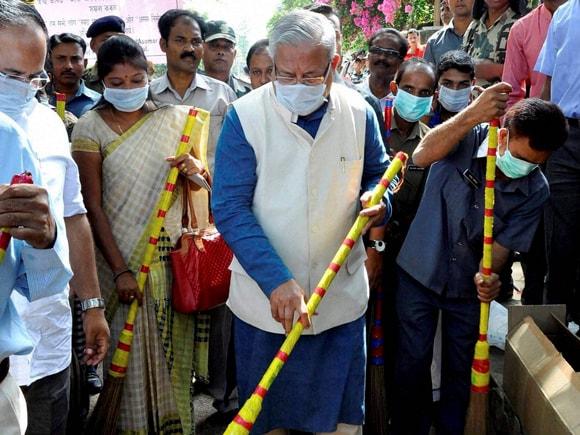 Governor of Assam, Padmanabh Balakrishna Acharya, Swachh Bharat Abhiyan, Asomor Nirmal aru Seuj Abhijan