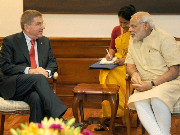 Prime Minister of India, Narendra Modi, President of the International Olympic Committee, Thomas Bach, Political Pictures