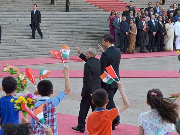 Pranab Mukherjee, Rabindranath Tagore, President of India, Pranab Mukherjee in china, President Pranab Mukherjee, Pranab Mukherjee China, Xi Jinping, Indo-China, China