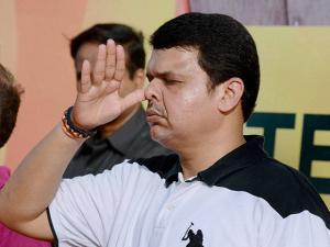 Devendra Fadanvis, Maharashtra  Chief Minister at Bandra Reclamation in Mumbai