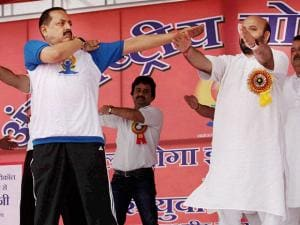 Jitendra Singh, MoS for Prime Minister's Office at Maulana Azad Stadium in Jammu