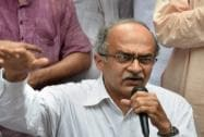 Bhushan attacks police over Yogendra's arrest