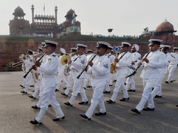Independence Day, 69th Independence Day, Navy band march, Historic Red Fort, New Delhi