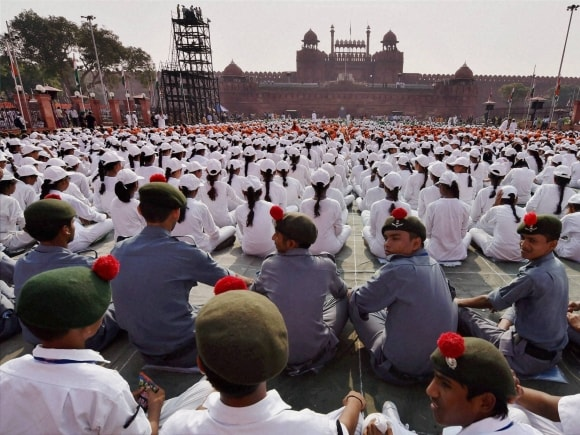 Independence Day, 69th Independence Day, NCC cadet, School children participating, Historic Red Fort, New Delhi