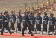 President Obama receives Guard of Honour at Rashtrapati Bhawan