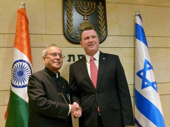 President, Pranab Mukherjee, Yuli-Yoel Edelstein, Israeli Parliament