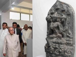 President Pranab Mukherjee visits Vikramshila  Monuments and Museum in Bhagalpur district in Bihar