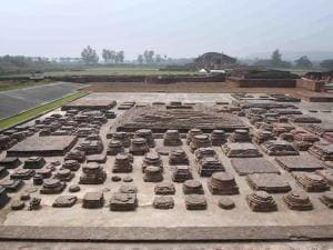 Vikramshila University Monuments and Museum in Bhagalpur district in Bihar