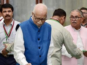 BJP senior leader L K Advani casts his vote in the Presidential Election.jpg