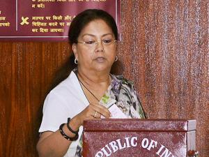 Rajasthan Chief Minister Vasundhara Raje casts her vote at Rajasthan Assembly during the Presidential election.jpg