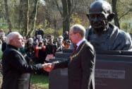 Prime Minister Narendra Modi with  Mayor of Hannover, Stefan Schostok
