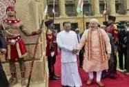 Prime Minister Narendra Modi with Sri Lankan President Mahithipala Serisena