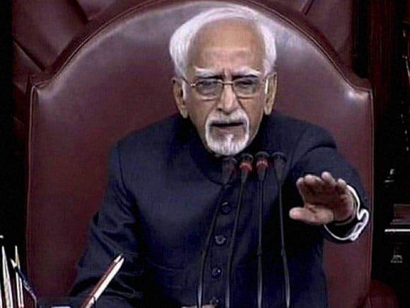 Vice-President of India, Hamid Ansari, Prime Minister of India, Narendra Modi, Rajya Sabha