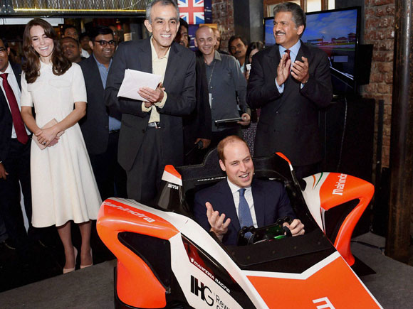 Mahindra India, Anand Mahindra, Prince William India visit, Kate Middleton, Prince William, Tech Rocketship Awards, Princess Catherine and Prince William, Princess Catherine India, Duchess of Cambridge, Duke of Cambridge, prince william and kate middleton india, prince william and kate middleton latest news, Mahindra Group, mahindra nuvosport, mahindra cars, mahindra finance, mahindra scorpio, mahindra xuv 500, mahindra tractor, mahindra tuv300