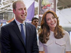 Britain's Prince William, and his wife, Kate, the Duchess of Cambridge during the launch of 'Tech Rocketship Awards' in Mumbai.