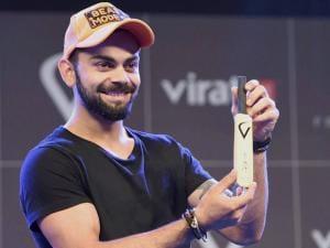 Cricketer Virat Kohli at the launch of 'Virat FanBox' in Mumbai