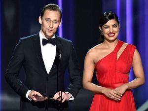 Tom Hiddleston and Priyanka Chopra present the award