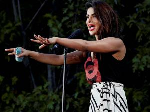 Actress Priyanka Chopra speaks at 2016 Global Citizens Fesival in New York