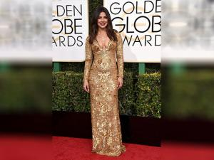 Priyanka Chopra arrives at the 74th annual Golden Globe Awards at the Beverly Hilton Hotel
