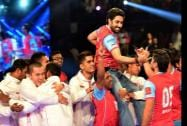 Bollywood actor Abhishek Bachchan's team Jaipur Pink Panthers win against Mumbai