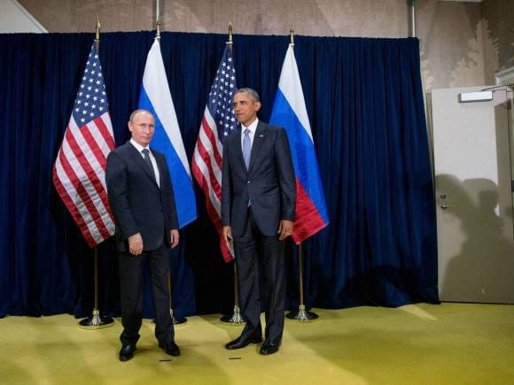 US President, Barack Obama, Russia President, Vladimir Putin, 70th session of the United Nations General Assembly, U N headquarters, New York