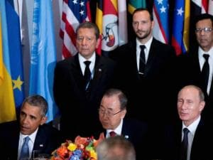 United States President Barack Obama and Russia's President Vladimir Putin