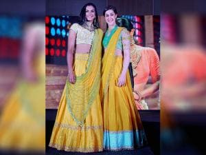 India's PV Sindhu and Spain's Carolina Marin on the ramp