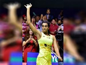 PV Sindhu acknowledges her supporters after winning women's singles final