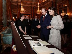 Prince William and Kate the Duchess of Cambridge attend a reception