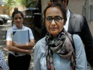 Rabia Khan, mother of Jiah Khan, arriving at a Sessions Court in Mumbai