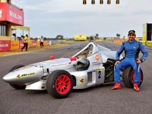 File photo of national racing champion Ashwin Sundar