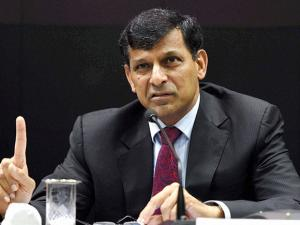 RBI Governor Raghuram Rajan at a press conference after his last monetary policy