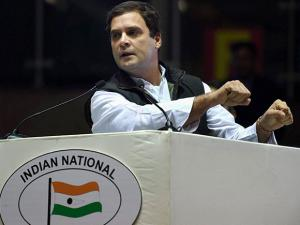 Rahul Gandhi addresses at the party's Jan Vedna Sammelan