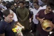 Rahul Gandhi meeting agitating students of the FTII